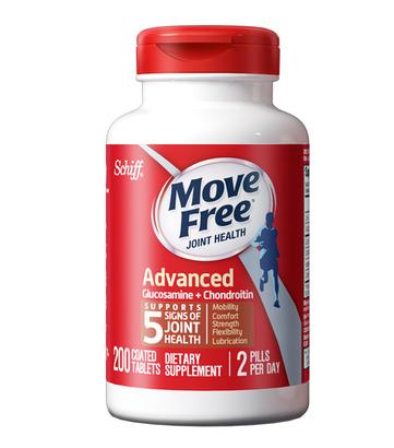 商品MoveFree氨基葡萄糖维骨力氨糖软骨素红瓶200粒图片