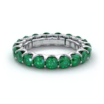 商品The Eternal Fit 14K 3.60 ct. tw. Emerald Eternity Ring图片