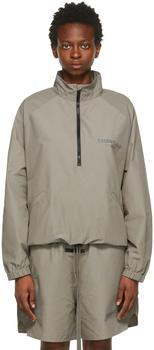 商品Taupe Half-Zip Track Jacket图片
