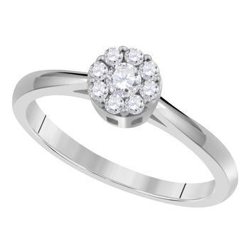 商品maulijewels 0.25 Ct Natural White Diamond Engagement Wedding Ring Crafted In 10K Rose White & Yellow Gold For Woman Best Gift Ever图片