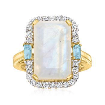 商品Ross-Simons Moonstone Ring With Multi-Gemstones in 18kt Gold Over Sterling图片