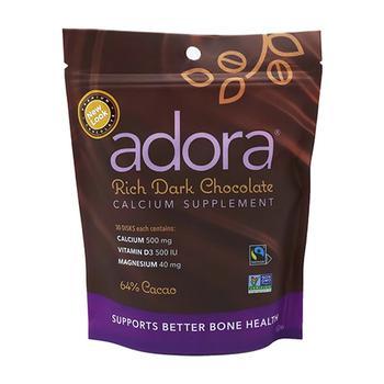商品Adora Calcium Supplement Disk, 500 Mg Organic Dark Chocolate, 30 Ea图片