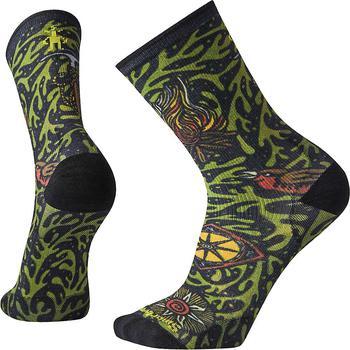 商品PhD Outdoor Ultra Light Vine Pattern Print Crew Sock图片