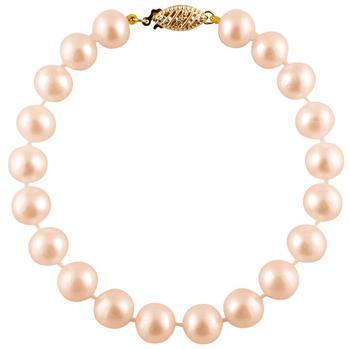 商品Bella Pearl Pink Freshwater Pearl Bracelet FWR7-7PI图片