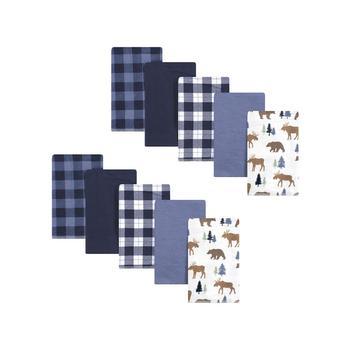 商品Boys and Girls Flannel Burp Cloths, 10 Piece Set图片
