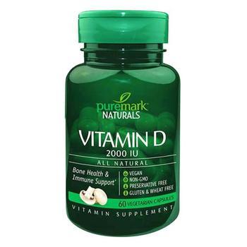 商品21st Century Puremark Naturals Vitamin D 2000 Iu Vegetarian Capsules, 60 Ea图片