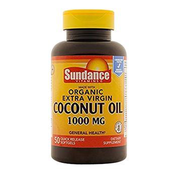 商品Sundance Organic Coconut Oil Softgels 1000 Mg, 50 Ea图片