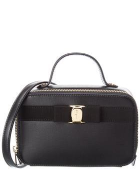 商品Salvatore Ferragamo Vara Bow Leather Cosmetic Case图片