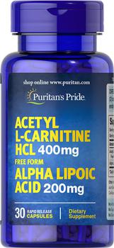 商品Acetyl L-Carnitine with Alpha Lipoic Acid图片