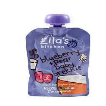 商品艾拉的厨房有机酸奶果泥,蓝莓和梨 100g图片