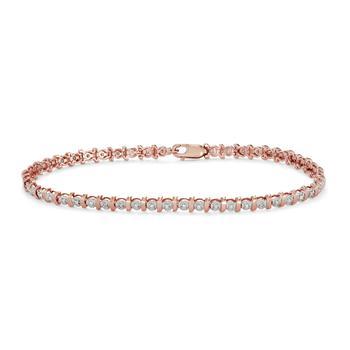 商品Hetal Diamonds 10K Dia Bracelet Pink Gold (0.25CTTW)图片