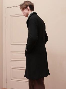 商品[Unisex] Watson Robe Wool Single Coat Black图片