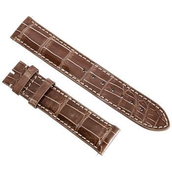 商品Hadley Roma 19MM Shiny Brown Alligator Leather Strap 19AAT08C图片