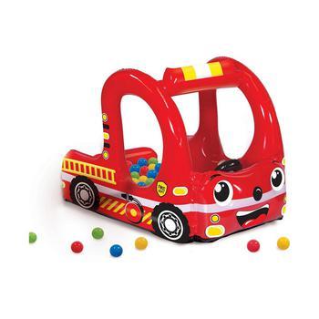 商品Banzai Rescue Fire Truck Play Center Inflatable Ball Pit -Includes 20 Balls图片