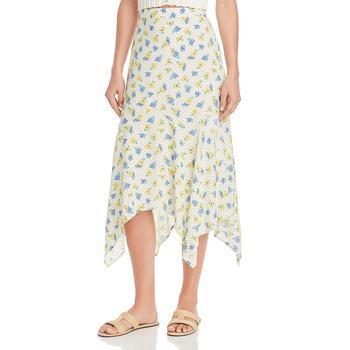 商品Lost + Wander Womens Mama Mia Asymmetrical High-low Midi Skirt图片