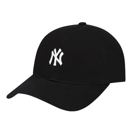 商品【韩国直邮|包邮包税】MLB NY复古小Logo棒球帽 黑色图片