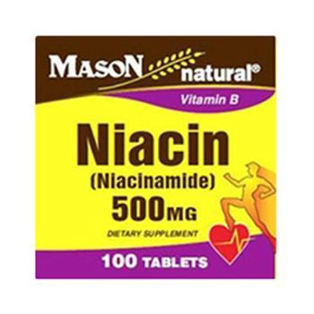商品Mason Natural Niacin (Niacinamide) 500 Mg Vitamin B Tablets - 100 Ea图片