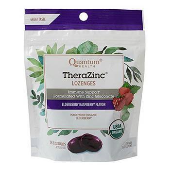 商品Thera Zinc Organic Therazinc Lozenges Elderberry Raspberry 18 Ea图片