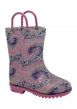 商品Toddler Girls Tie Dye Rain Boots图片