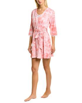 商品Rene Rofe 3pc Bliss Dreamer Top, Robe & Short Set图片