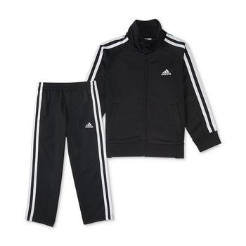商品Little Boys Zip Front Tricot Jacket and Pant Set 小童装 6m 适合6个月左右宝宝图片