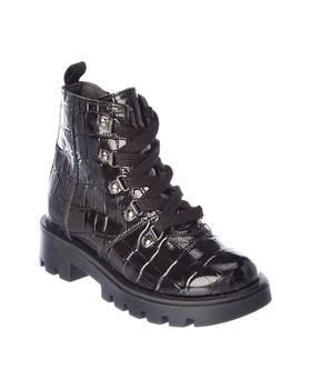 商品Naturino Bononia Croc-Embossed Leather Boot图片