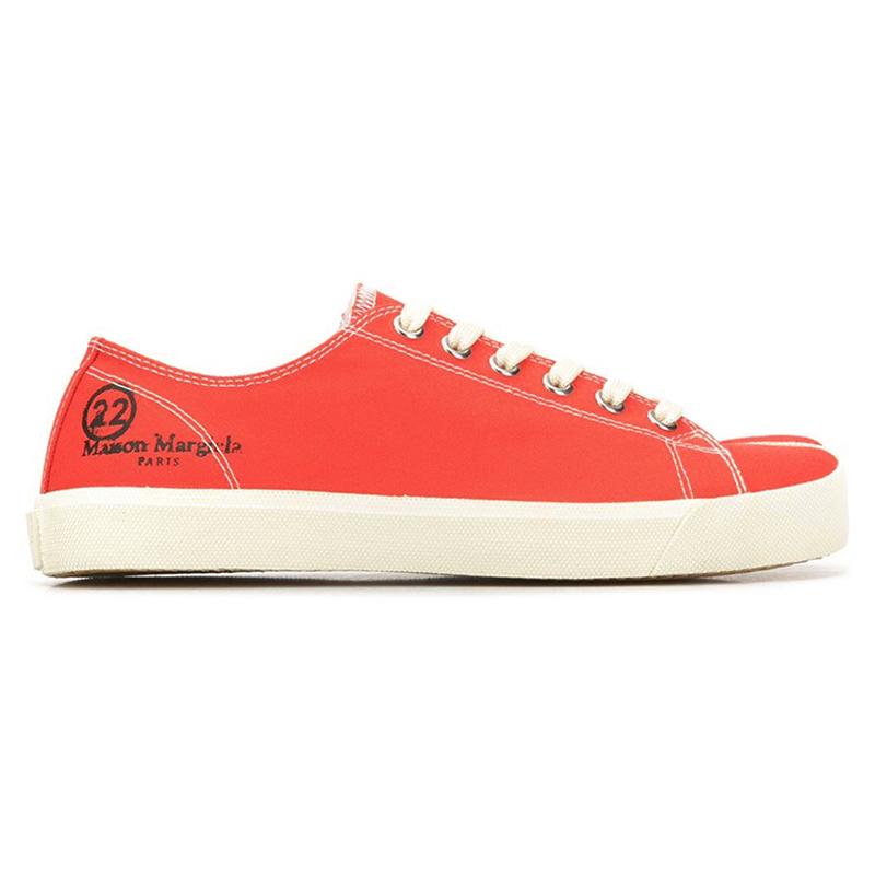 商品TABI 红色低帮分趾鞋图片