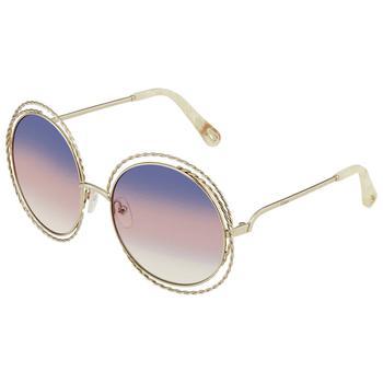 商品Chloe Rainbow Round Ladies Sunglasses CE114ST 779 58图片