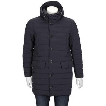 商品Moncler Down-filled Hooded Arnaud Long Parka In Blue, Brand Size 2图片