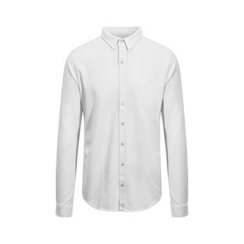 商品AWDis So Denim Mens Oscar Knitted Long Sleeve Shirt (White)图片