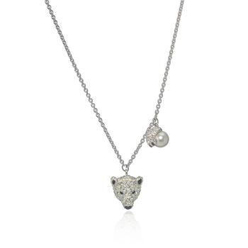 商品Swarovski Polar Bestiary Rhodium And Crystal Necklace 5499633图片