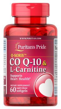 商品Co Q-10 plus L-Carnitine 60 softgels图片