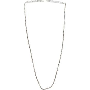 商品Crystal Barrette Necklace - Silver图片