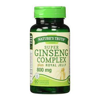 商品Natures Truth Super Ginseng Complex Plus Royal Jelly 800mg Capsules, 60 Ea图片