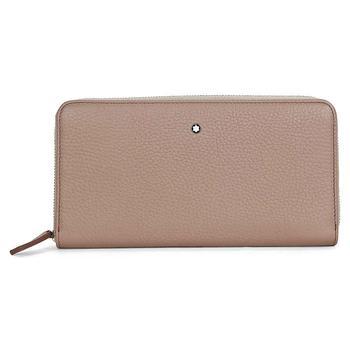 商品Montblanc Meisterstuck Beige Soft Grain Leather 8CC Long Wallet & Coin Case 111218图片