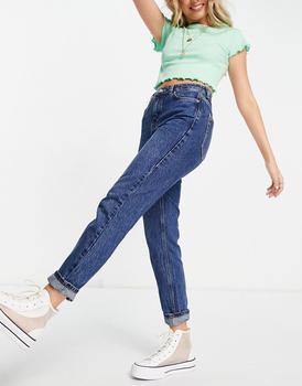 商品Topshop mom jeans in indigo图片