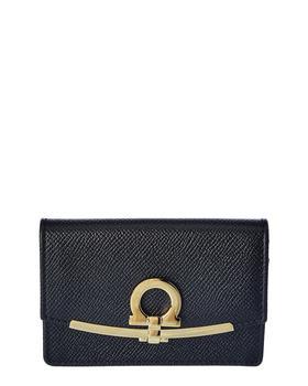 商品Salvatore Ferragamo Gancini Leather Card Case图片