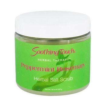 商品Soothing Touch Herbal Salt Scrub, Peppermint Rosemary - 20 Oz图片
