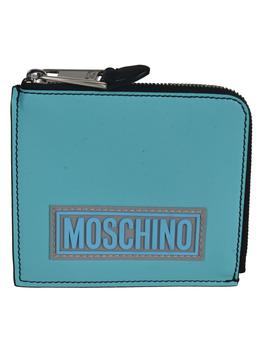 商品Moschino Patched Logo Zip-around Coin Purse图片