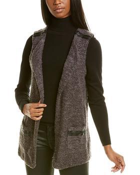 商品Bobeau Plush Wool-Blend Vest图片