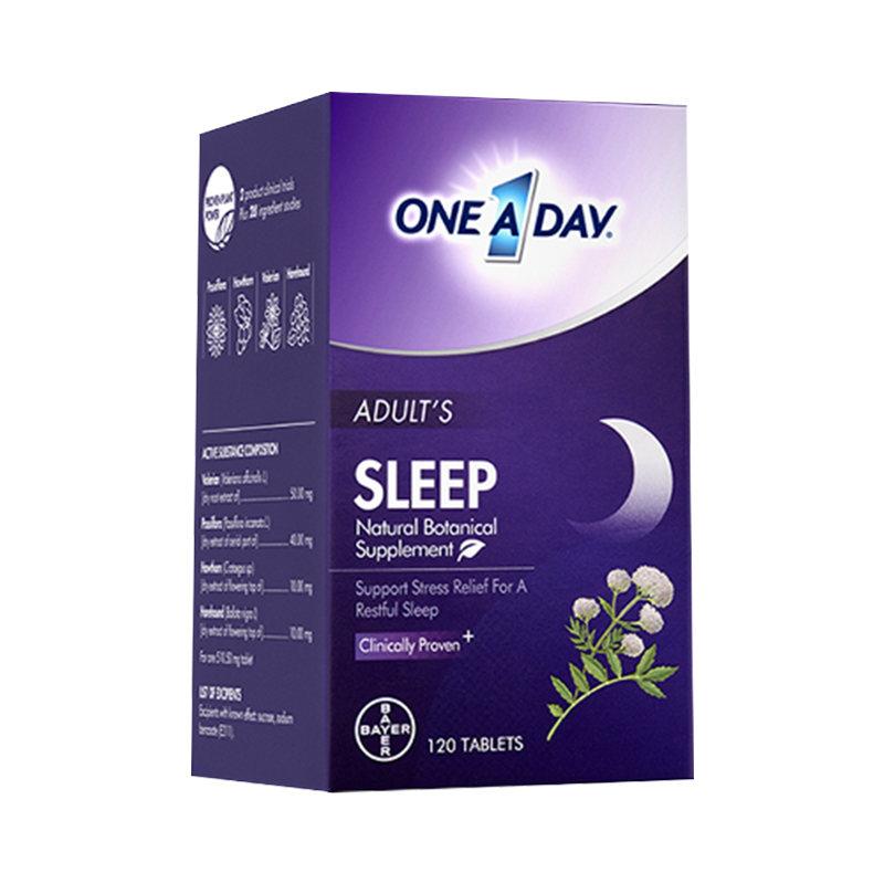 商品拜耳Oneaday舒压睡眠片不含褪黑素助眠改善失眠sleepwell甜睡豆图片