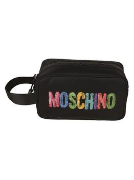 商品Moschino Multicolored Logo Print Wash Bag图片