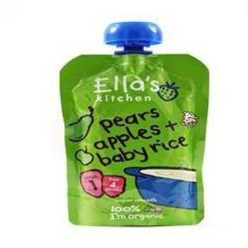 商品艾拉的厨房1阶段婴儿米 梨苹果泥 120g图片