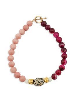 商品Elizabeth 24K Gold-Plated & Multi-Stone Beaded Necklace图片