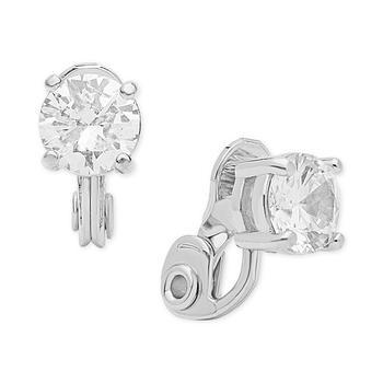 商品Crystal Solitaire Clip-on Earrings 水晶耳夹图片