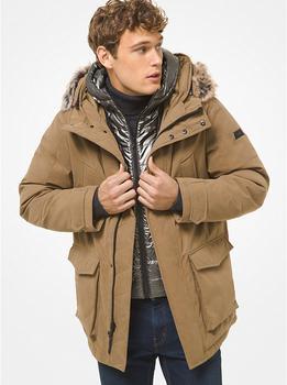 商品毛绒领防水派克大衣(内有保暖背心)两件套图片