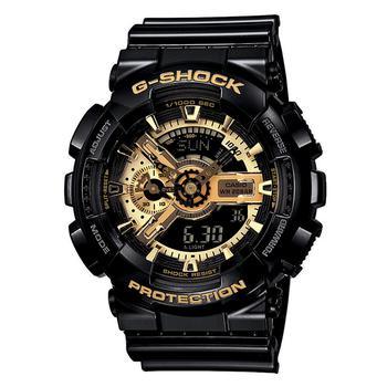商品G-Shock系列经典黑金防水运动手表 男款图片