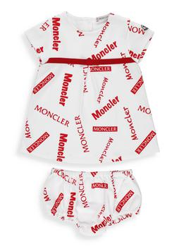 商品Moncler Enfant Logo Allover Printed Dress - 9-12M / Multi图片