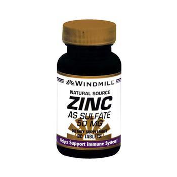 商品Windmill Natural Source Zinc Sulphate 50 Mg Tablets - 90 Ea图片