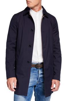 商品Men's Silk Rain System Raincoat w/ Lamb Leather图片